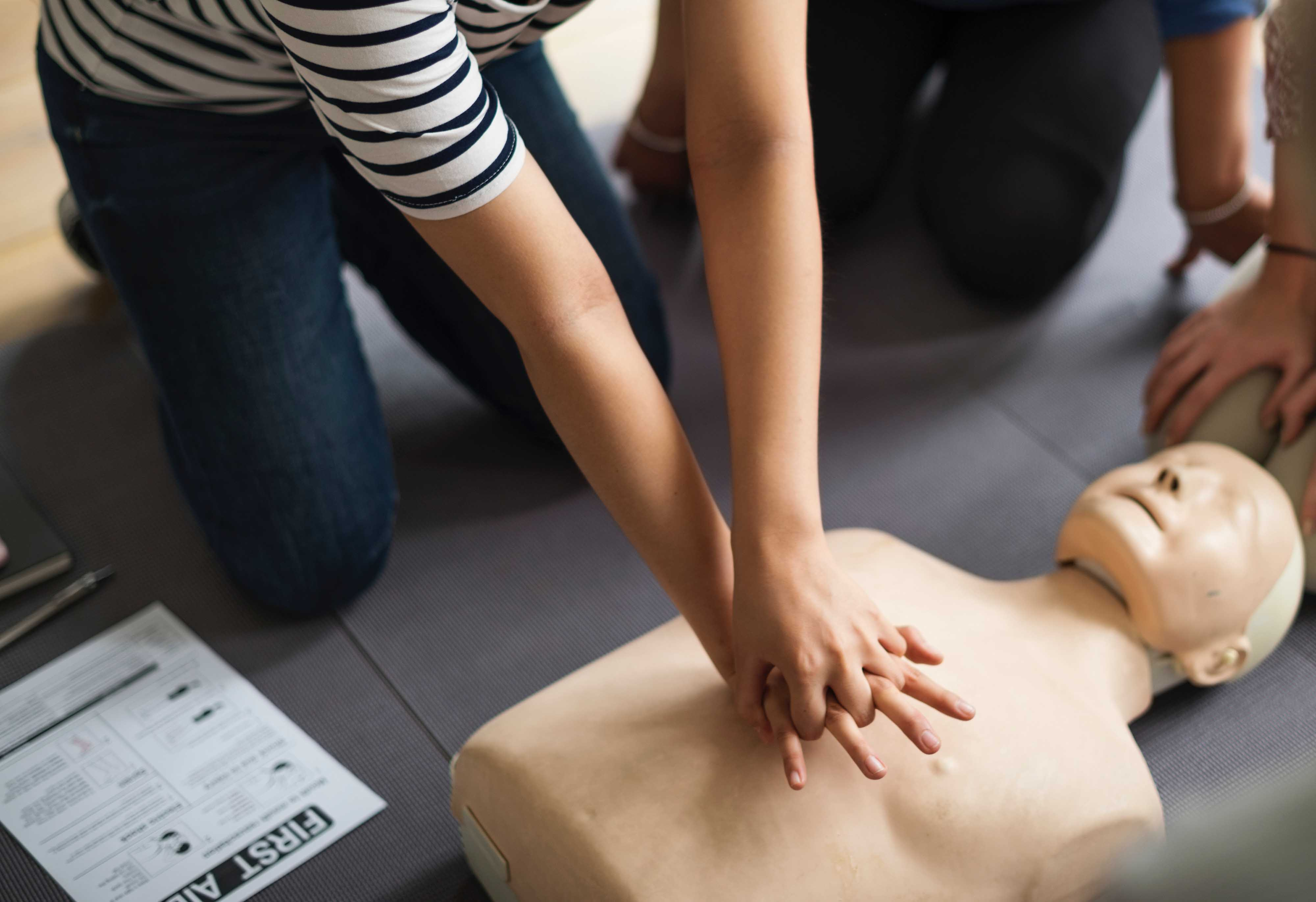 If the person isn't breathing after getting an electrical shock, it's time to perform CPR.